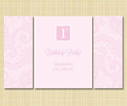 1st Birthday Pink Luxury Banner Rental