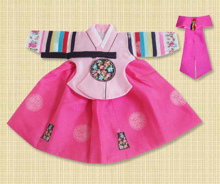 1st Birthday Girl Pink Palace Hanbok