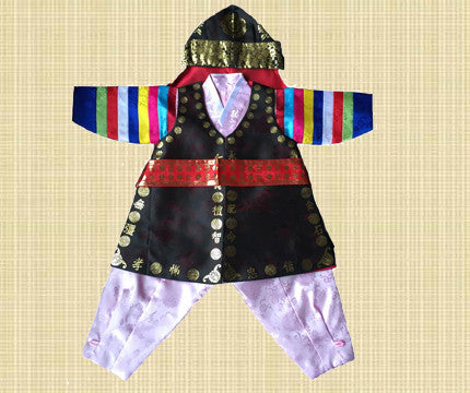 1st Birthday Boy Traditional Dolbok Prince Hanbok Style 2