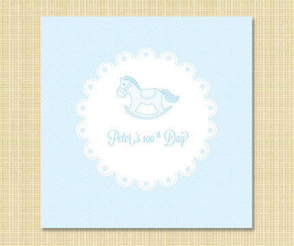 100th Day Beek-Ⅱ Rocking Horse Banner