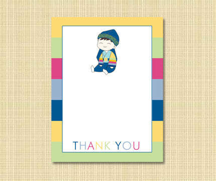 Sitting Baby Thank You Cards