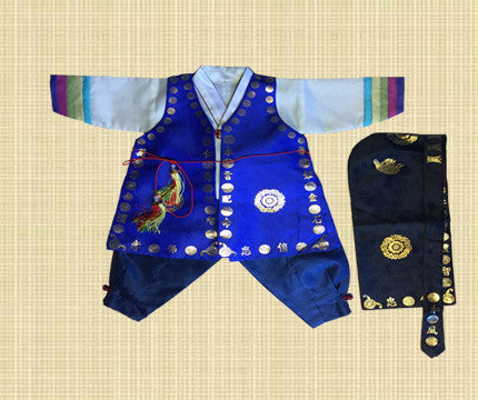 1st Birthday Boy Traditional Dolbok Prince Hanbok Style 3