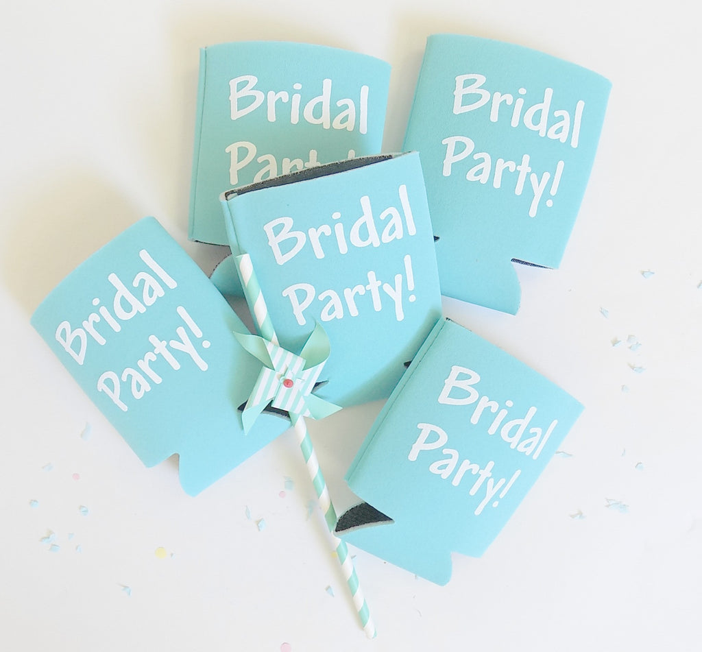 """Bridal Party"" drink koozie"