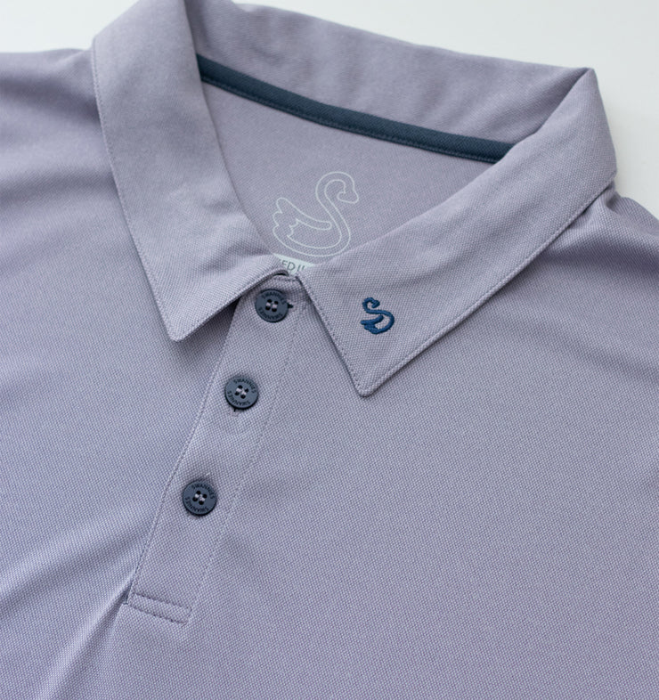Swannies Williams Polo Lavender Close Up