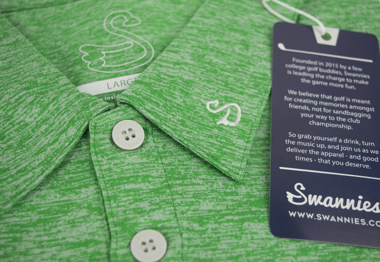 swannies team polo green tag