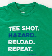 Swannies Hazard Tee Green - Model