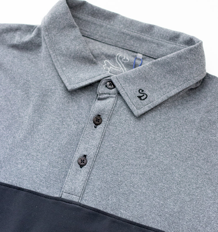 Swannies Meyer Polo Black - Close Up