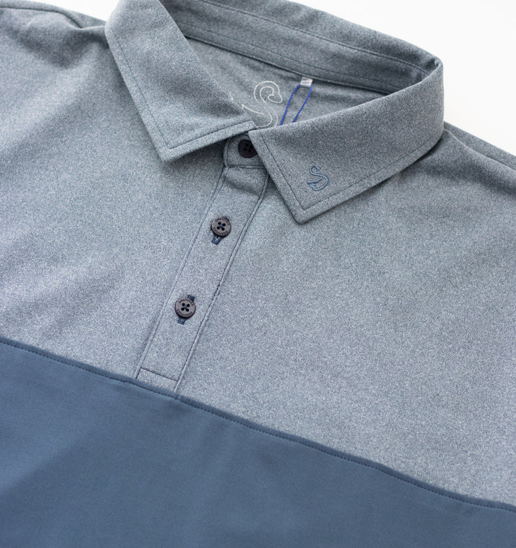Swannies Meyer Polo Navy - Close Up