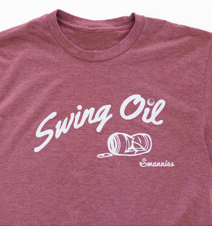 Swannies Swing Oil T-Shirt Maroon