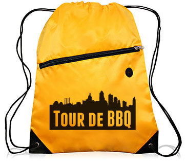 2018 Tour-de-BBQ Drawstring Backpack