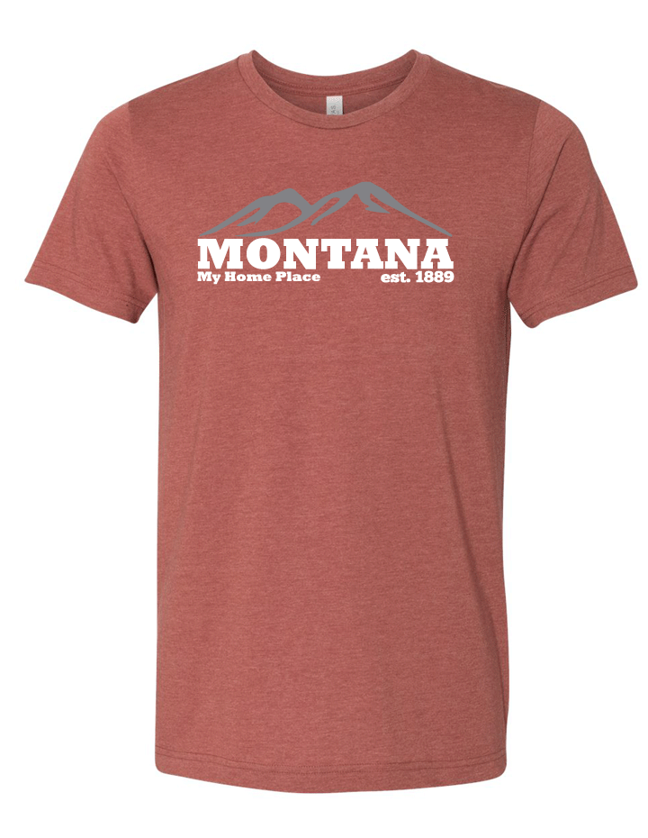 Montana My Home Place Short Sleeve Tri Blended Tee