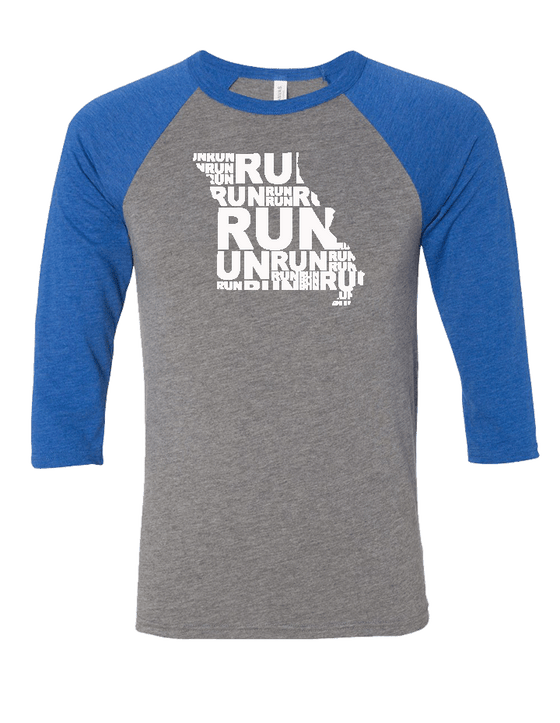 Run (Repeat) Missouri Baseball Tee