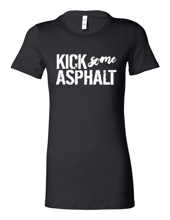 Kick Some Asphalt Ladies Tri-Blend Tee