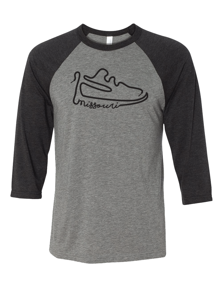 Missouri Shoelace Baseball Tee