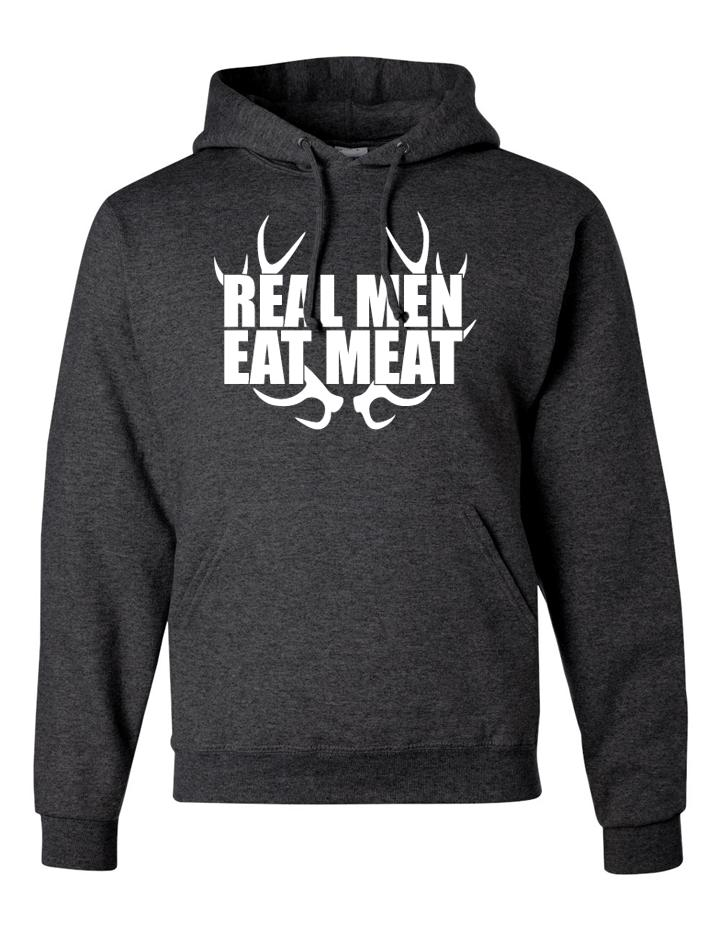 Real Men Eat Meat Tri Blended Hoodie