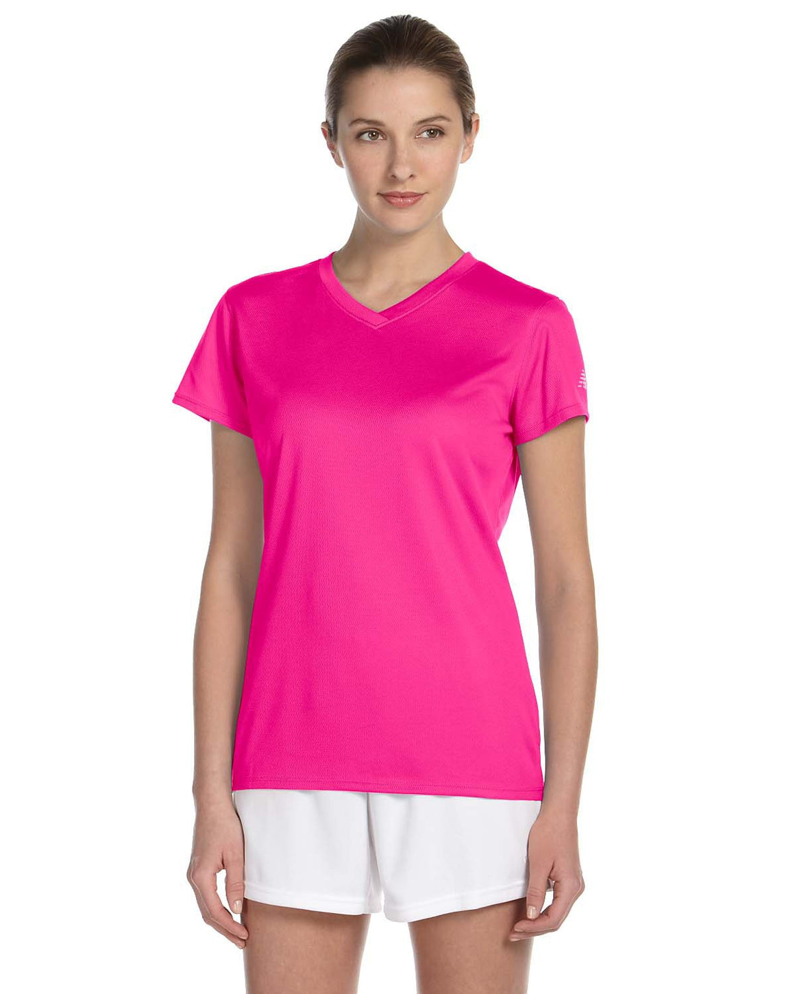 New Balance Ladies' Athletic V-Neck Short Sleeve Tech Tee