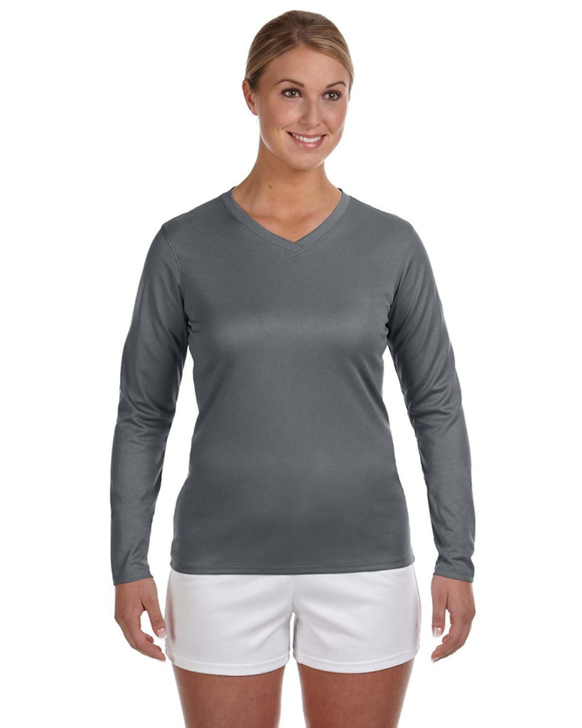 New Balance Ladies' Athletic V-Neck Long Sleeve Tech Tee