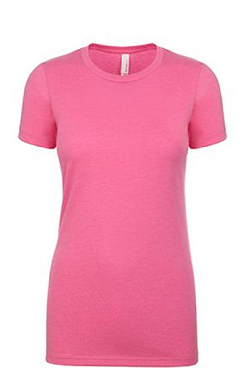 Short Sleeve Soft Cotton Crew Tee Ladies - Next Level