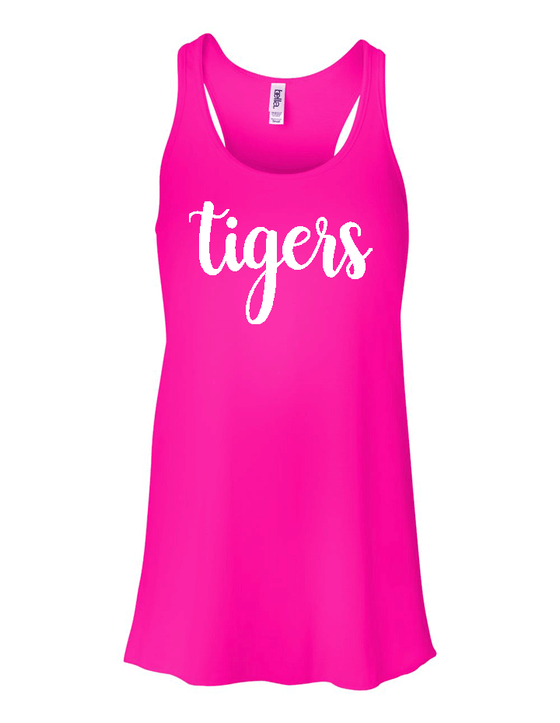 Tigers Ladies Flowy Tank