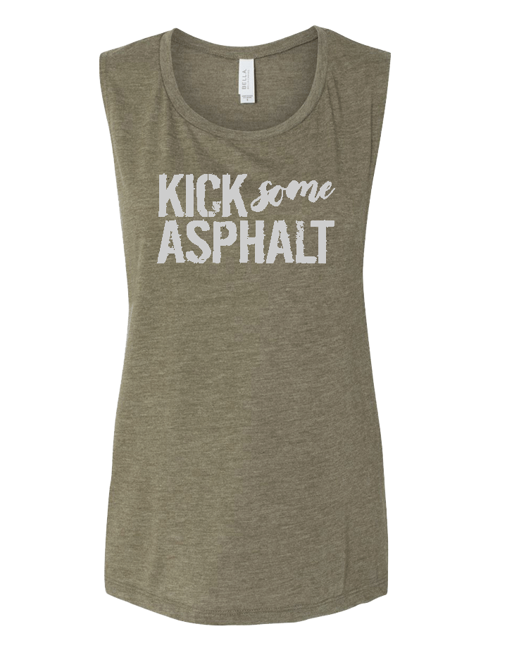 Kick Some Asphalt Ladies Muscle Tank