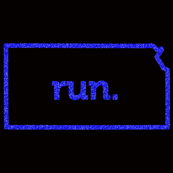 Run Kansas Outline Block - Design Only