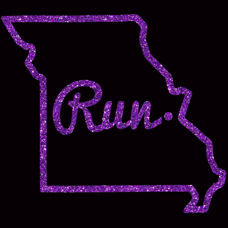 Run Missouri Outline Cursive - Design Only