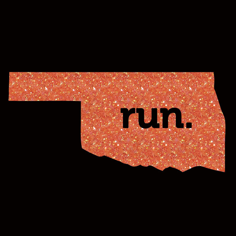 Run Oklahoma Solid Glitter - Design Only