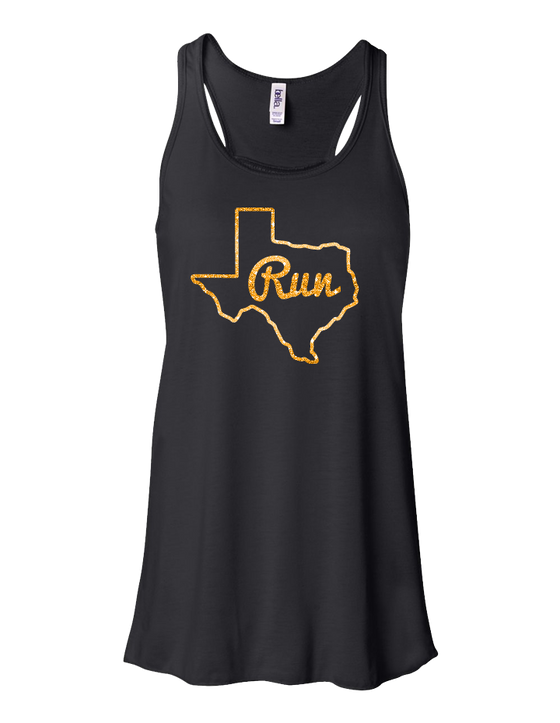 Run Texas Ladies Flowy Tank