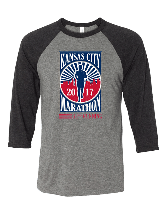 Kansas City Marathon Baseball Tee
