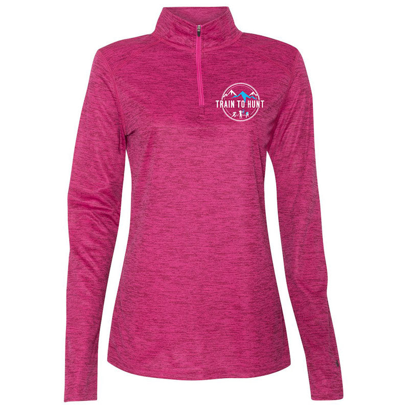 Ladies Pink Quarter Zip