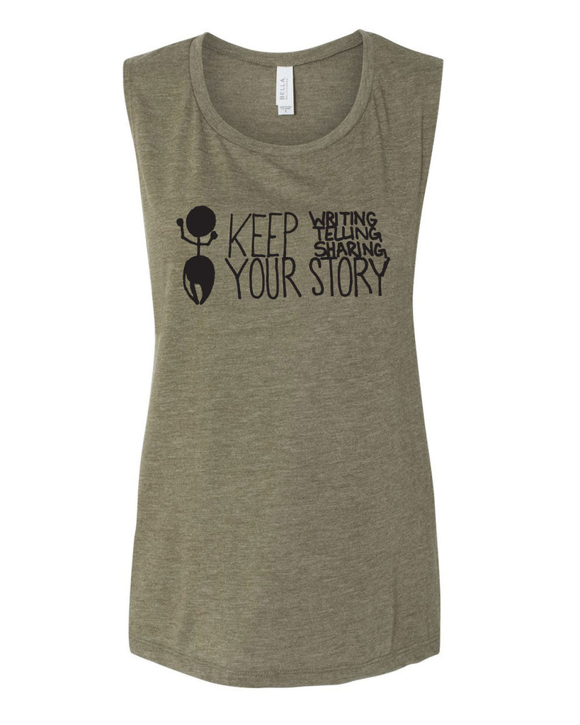 Keep Your Story Women's Muscle Tank