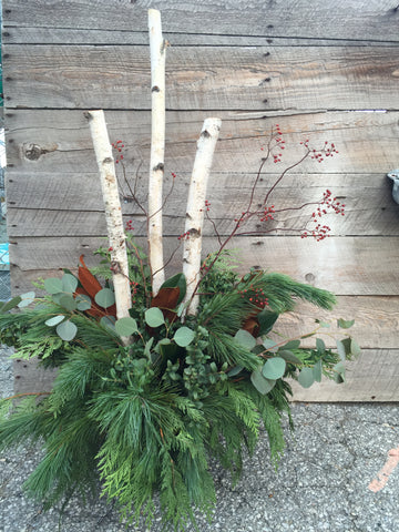 Designer Winter Porch Planter #1  Tuesday. Nov.26th
