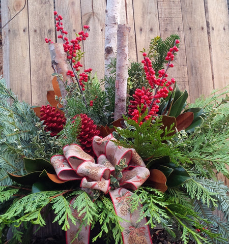 Deluxe Winter Porch Planter Nov.29th