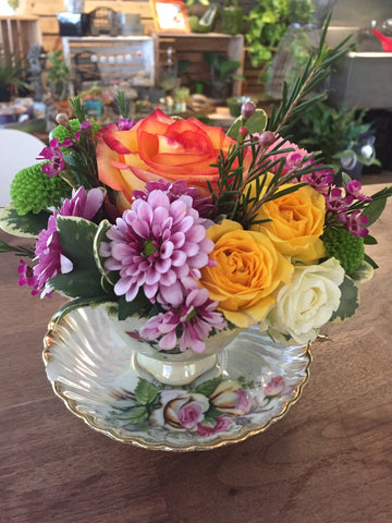 Teacup Flower Arrangement