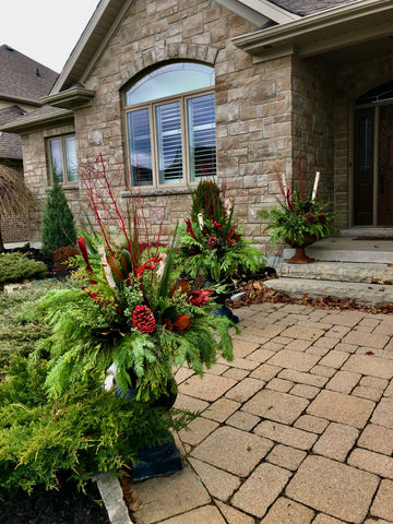 Custom Winter Planters at Home