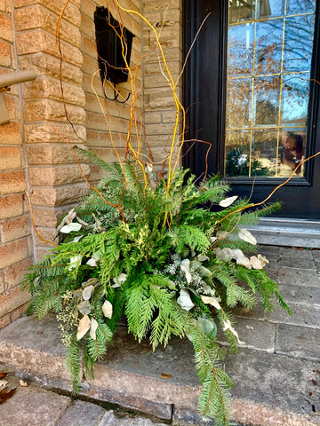 Winter Outdoor Planter