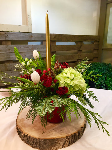 Holiday Centrepiece Arrangement. Wednesday, December 19th