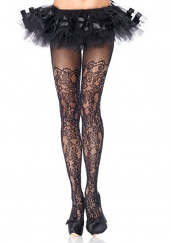 Sexy - Floral Vine Net Pantyhose (Reg & Plus Sizes)