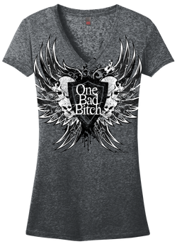 Tops/OBB - Raven Wing Burnout Tee
