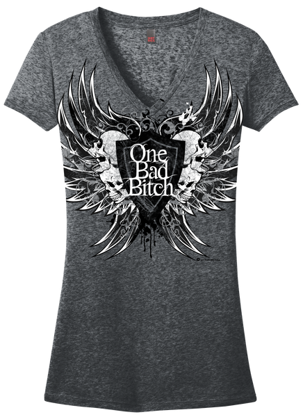 OBB Raven Wing Burnout Tee