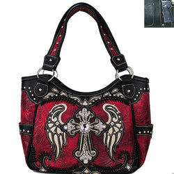 ACC/Purse - Concealed Carry Tooled Leather Cross Handbag