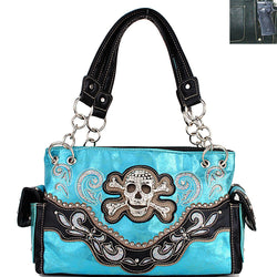 ACC/Purse - Concealed Carry Iridescent Skull Handbag