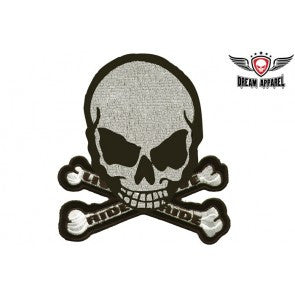Live To Ride, Ride To Live Monster Skull Embroidered Patch