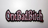 "OBB/Patch - ""One Bad Bitch"" Embroidered"