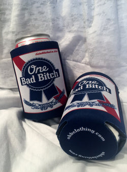 OBB - One Bad Bitch PBR Style Can Koozie