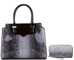 ACC/Purse - Animal Print Handbag & Wallet Set