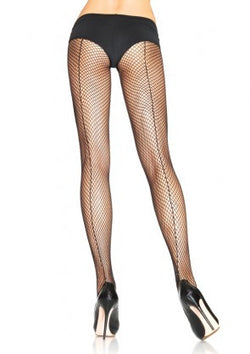 Sexy - Plus Size Backseam Fishnet Pantyhose
