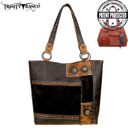 ACC/Purse - Trinity Ranch by Montana West Concealed Carry Hair-On Leather Tote
