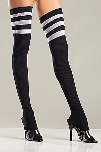 Sexy - Athletic Ribbed Thigh Highs