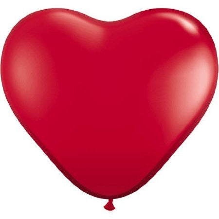 "Qualatex 6"" Heart Balloons, RED, 100 count"